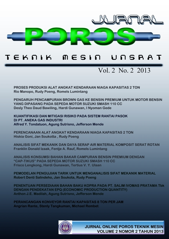 JURNAL ONLINE POROS TEKNIK MESIN UNSRAT VOLUME 2 NOMOR 2