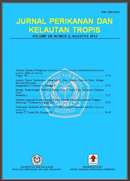 Jurnal Perikanan dan Kelautan Tropis - Vol.8(2) - Agustus 2012